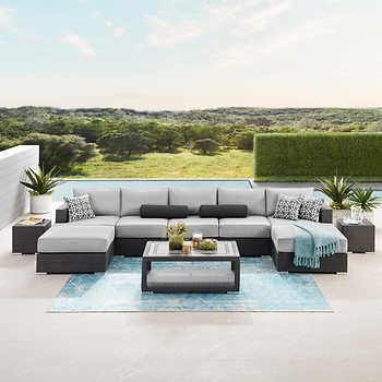 niko 10 piece patio sectional