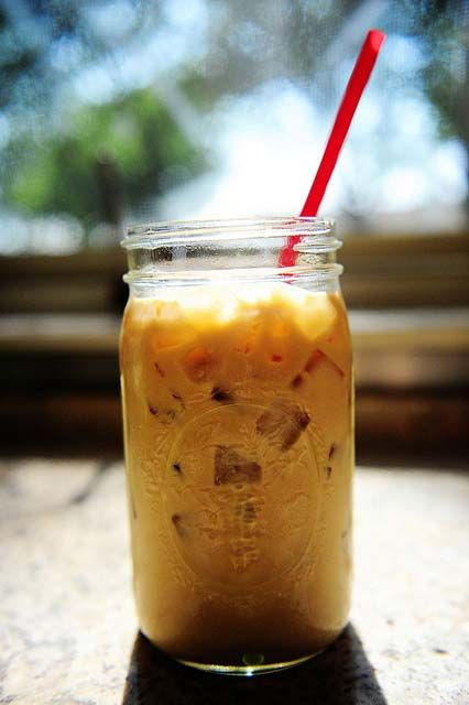 Iced coffee (made with coffee concentrate)... I should probably try this and stop paying for my latte every day...