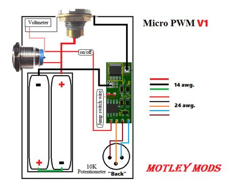 pwm wiring diagram  box mod vape diy diy box mod vape