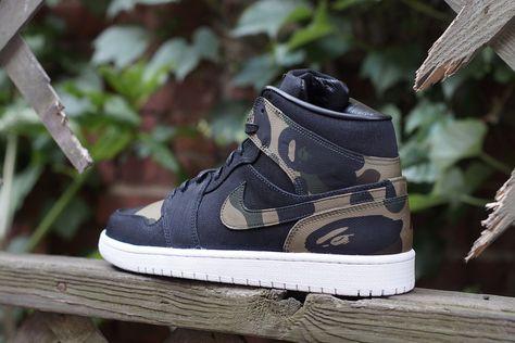 buy online 6f547 0abf3 Air Jordan 1 Bape by JBF Customs