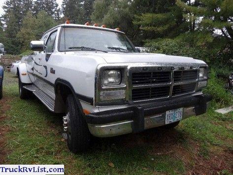 Dodge W350 D350 Ram Cummins Dually 4X4 Turbo Diesel Pickup Truck