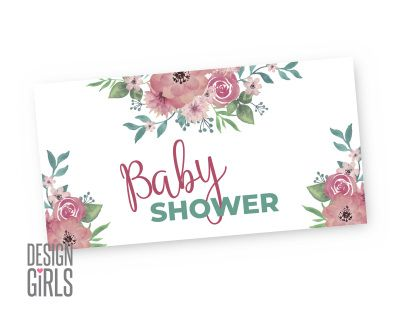 Watercolor Floral Baby Shower Facebook Event Banner Baby Shower Facebook Floral Baby Shower Floral Baby
