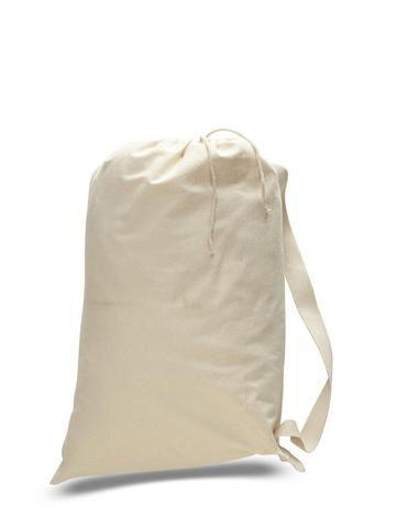 Wholesale Canvas Laundry Bags W Shoulder Strap Drawstring