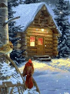 Log cabin gif