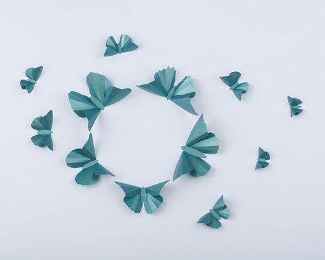 6eca964958bf3 Mur 3D papillons