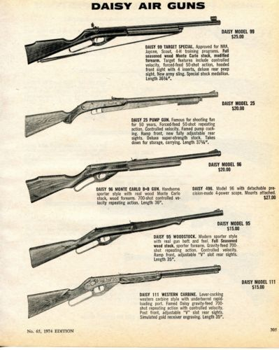 Details about 1964 Print Ad of Daisy Air Rifle 99 Target
