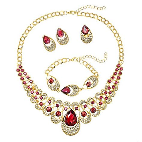 18-Inch Hamilton Gold Plated Necklace with 4mm Ruby Birthstone Beads and Gold Filled Our Lady of Victory Charm.