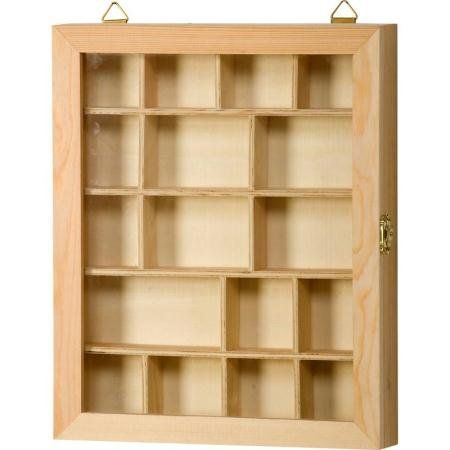 23x 28x 29cm Artemio Beige Contien Este Madera Pin Vivt2328vitrina In 2020 Plain Wooden Boxes Wooden Shadow Box Shadow Boxes