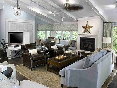 Candice Olsen Beach Themed Family Room Beadboard And Beamed Ceiling All About The Inside Of Home Pinterest Beams