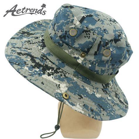 Mountaineering Camouflage Round Brimmed Panama Hat Men s Cap Sun Hats Z-3058 eeeaee074e58
