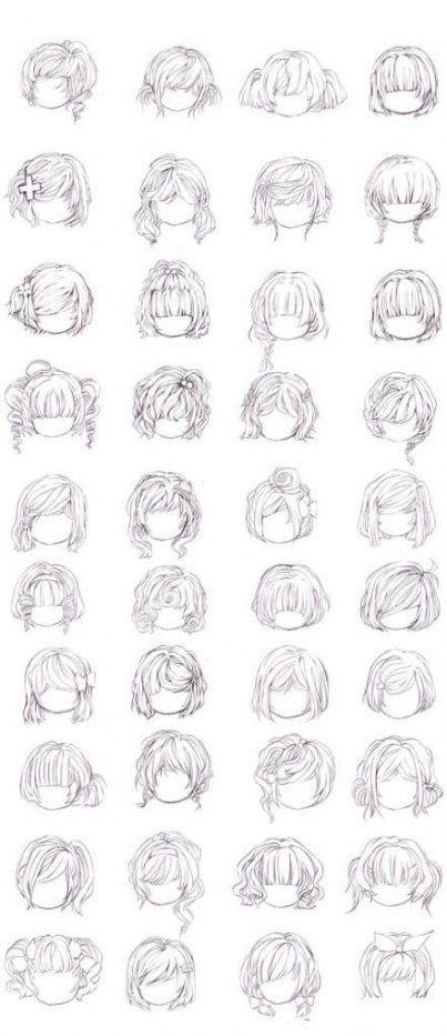 25 Ideas Hair Tutorial Wavy Short Hairstyles Manga Hair Drawing Hair Tutorial Anime Hair