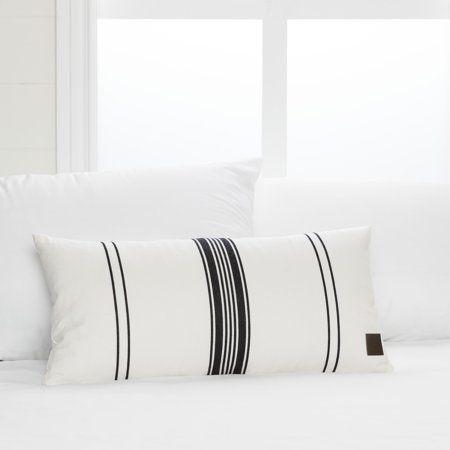 Home White Throw Pillows Stripe Throw Pillow Black And White Pillows