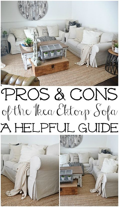 Ikea Slipcover Sofa Review   Honest Opinions 3 Years Later | Ektorp Sofa,  Slipcover Sofa And Living Rooms