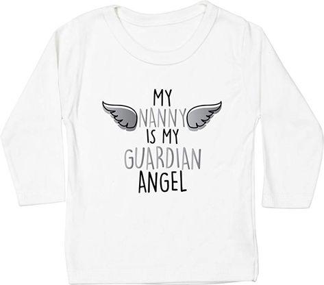 5f004147e Hippowarehouse My Nanny is My Guardian Angel - Heaven Baby Unisex t ...
