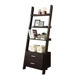 Monarch Specialties Cappuccino Composite 4 Shelf Bookcase At Lowes