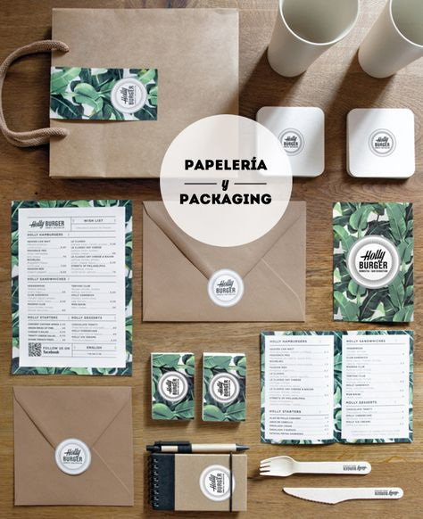 Holly Burger - papeleria y packaging