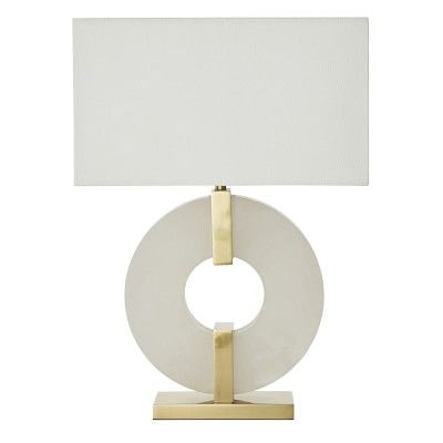 Venice Ring Table Lamp Alabaster Brass Table Lamp Lamp Lamps
