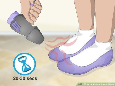 Stretch Plastic Shoes | Plastic shoes, How to stretch shoes