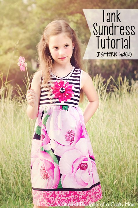 Sundress  tutorial for girls with free pattern (size 3 to 8.)