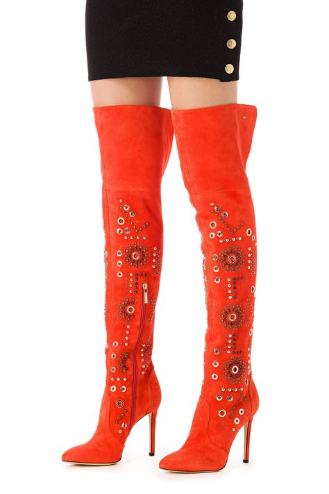 db2163a34f9 Over-the-knee boots with studs - Elisabetta Franchi