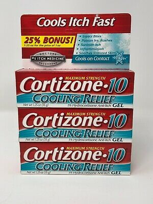 Details About Cortizone 10 Cooling Relief Anti Itch Gel 1 Oz Pack
