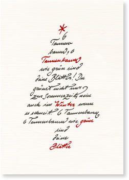 Weihnachtskarten Beschriften.Kalligrafie Bäumchen Aktuelle Weihnachtskarten Weihnachten