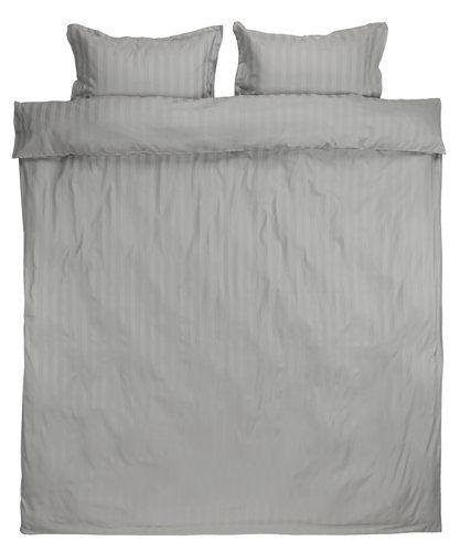 Posciel Nell Satyna 200x220 Jasnoszara Jysk Bed Sheets Home