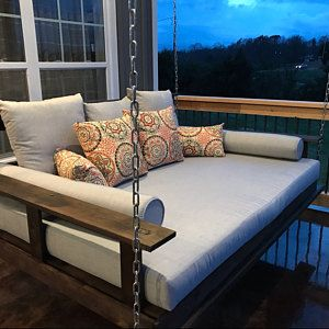 The R R Reclaimed Wood Porch Bed Swing Crib Size Hanging Bed