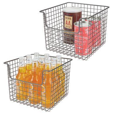 Metal Wire Kitchen Pantry Food Storage Basket 10 X 10 X 7 75 Storage Baskets Kitchen Pantry Food Storage