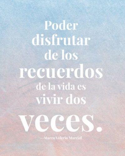 Afbeeldingsresultaat voor recordar vivir lo ya vivido