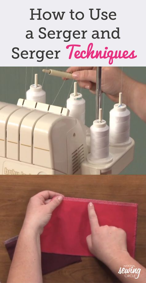 Master how to use a serger before your next project by watching this instructional video and you can use it in more fun and creative ways. Serger Patterns, Serger Stitches, Easy Sewing Patterns, Tatting Patterns, Apron Patterns, Sewing Ideas, Serger Sewing Projects, Sewing Basics, Sewing Projects For Beginners