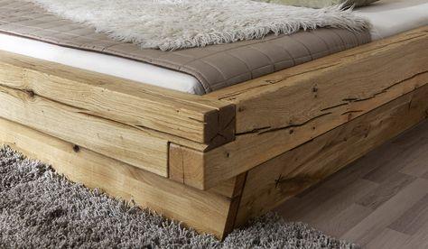 Sam Balkenbett Jakob Mit Schubkasten Massiv 200x200 Cm Demnachst Bett Bett Selber Bauen Massivholzbett