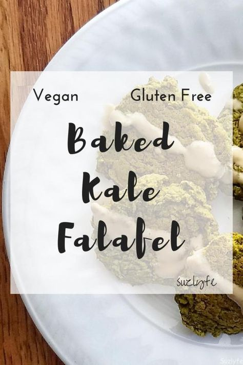 This healthy baked Kale Falafel recipe is vegan, gluten free, high in protein, and amazingly delicious! A fun twist on a traditional Mediterranean favorite baked to perfection and great for meal prep. @suzlyfe http://suzlyfe.com/healthy-baked-kale-falafel-vegan-gluten-free/