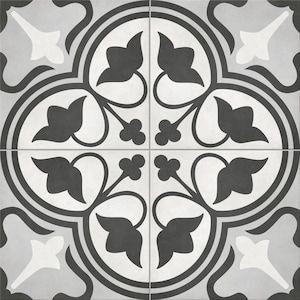 Satori Nouveau Flora Deco 8 In X 8 In Matte Porcelain Encaustic Floor And Wall Tile Lowes Com In 2020 Floor And Wall Tile Wall Tiles Porcelain Flooring