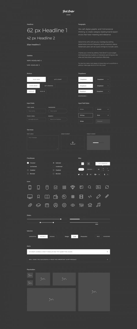 First Order Free UI Kit for Sketch, PSD and Figma - DOWNLOAD LINK - FreebiesUI