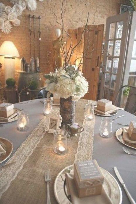 37 Rustic Burlap Wedding Ideas You Will Enjoy Weddings Wedding Table Linens Lace Table Runner Wedding Rustic Wedding Table