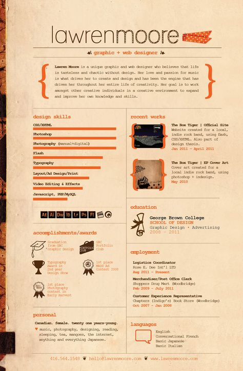 Resume by ~drag-my-soul on deviantART Infographic Visual Resumes