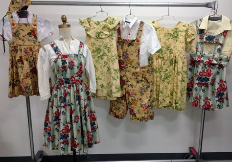 """Play Clothes examples from """"The Sound of Music"""". www.tdf.org/costumes #soundofmusic #costume #musical #theatre"""