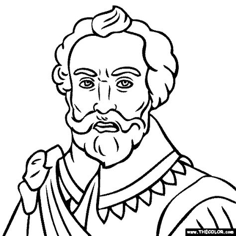 100 Free Coloring Page Of Sir Francis Drake Color In This