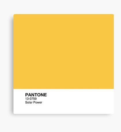 Pantone Solar Power By Saashastudios Pantone Canvas Prints Colorful Prints