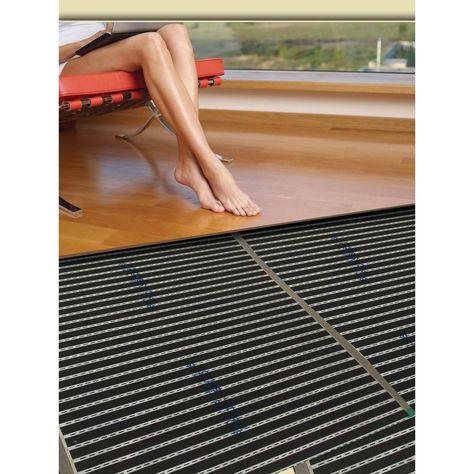 Quietwarmth 3 Ft X 10 Ft 120 Volt Electric Radiant Floor Heat Heating System For Laminate Luxury Vinyl And Floating Floors Qwarm3x10f120 In 2020 Radiant Heat Flooring Floating Floor