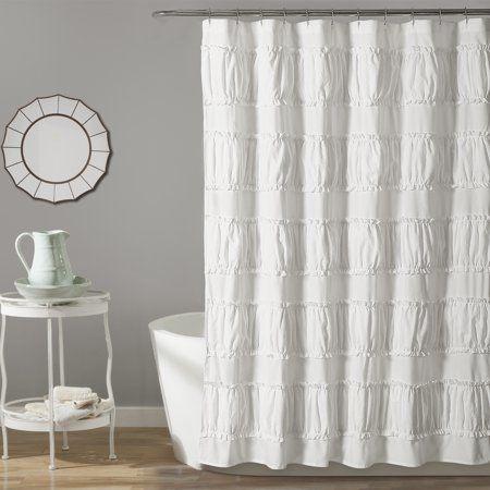 Nova Ruffle 72 Inchx72 Inch Shower Curtain Size 72 Inch X 72 Inch