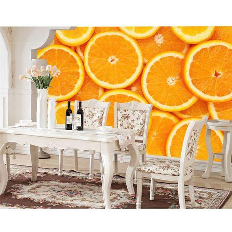 3D Murals Custom Photo Wallpaper For Walls DIY Waterproof Fresh Orange  Fruit Wall Papers Living Room Papel Mural Para Pared 308