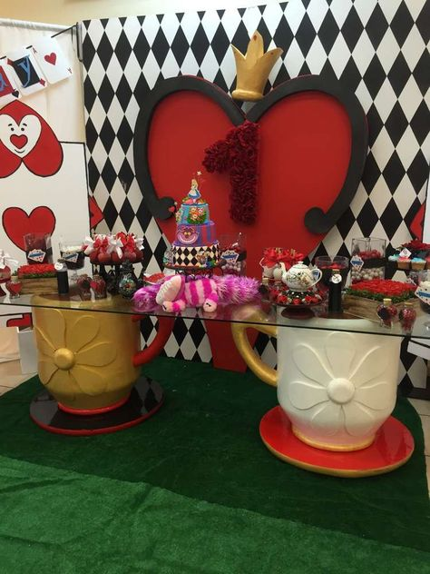 Alice In Wonderland Birthday Party See More Party Ideas At