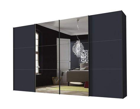 Express Mobel Panoramaschrank 4 Turig Stars Design Spiegel Graphit Glas Satiniert Amazon Einrichten Und Wohnen Design Wohnen