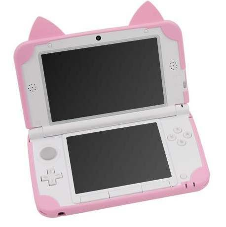 Cat Neko Nyan Soft Silicon Case Cover For Old LL(XL) Pink. Circle Slide Pad Non-Slip Sticker For Nintendo New For LL. Keep your for LL safe and protected in style with this silicone accessory. Ds Xl, Gaming Accessories, Barbie Accessories, Lol Dolls, Toys For Girls, Baby Girl Toys, Cat Ears, Cool Stuff, Pink