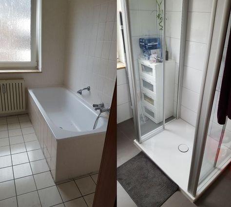 Hochwertig Vorher Nachher   Renovierung Meines Bathroom / Badezimmer. Dunkle  Bodenfliesen Und Helle Wandfliesen | Bad | Pinterest