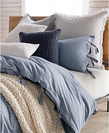Dkny Pure Stripe Blue Duvet Covers Reviews Bedding Collections Bed Bath Macy Duvet Cover Master Bedroom Blue Comforter Bedroom Blue And Grey Bedding