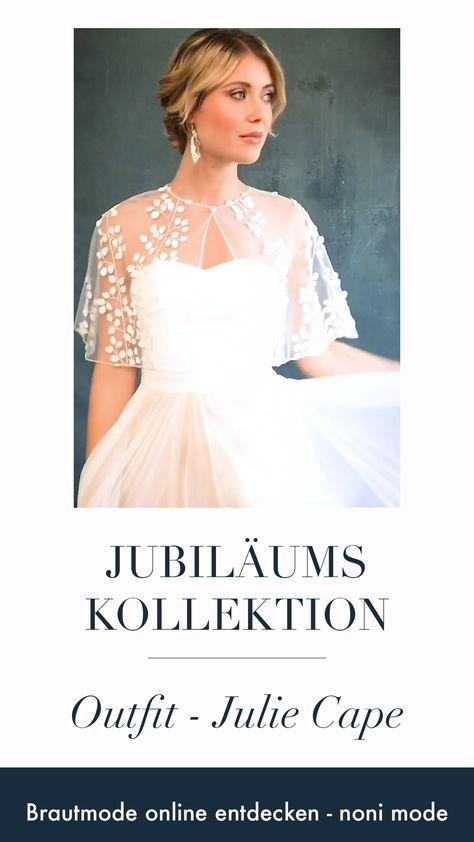 Das transparente Braut Cape zum Hochzeitskleid aus 3D-Blätter Spitze ist kurz und luftig geschnitten und perfekt für ein romantisches Finish zum Brautkleid. Die perfekte Mischung aus Romantik und Boho Glam, egal ob zu einem verspielten Hochzeitskleid oder zu einem lässigen und minimalistischen Brautkleid.