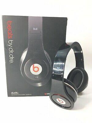 Beats By Dr Dre Monster Audio Studio Wired Over Ear Headphone Black Red 50644450334 Ebay Studio Headphones Black Headphones Over Ear Headphone